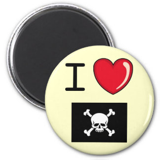 Pirate Love Fridge Magnet