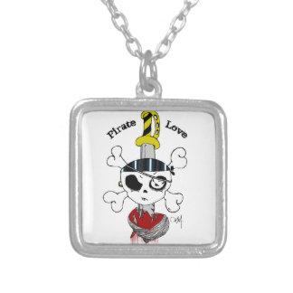 Pirate Love Silver Plated Necklace
