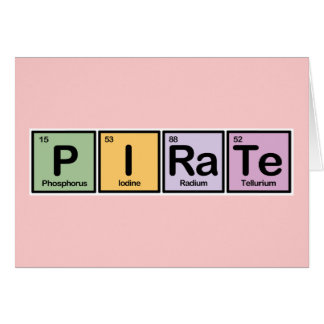 Pirate made of Elements Card