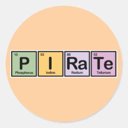 Round Sticker with Pirate design