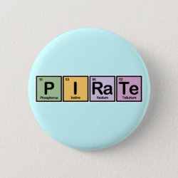 Round Button with Pirate design