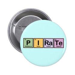 Round Button with Pirate design
