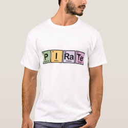 Men's Basic T-Shirt with Pirate design