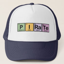 Trucker Hat with Pirate design