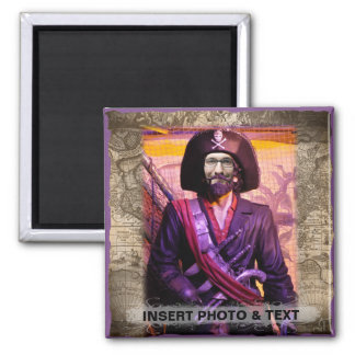 Pirate Magnet - Personalize Photo & Text