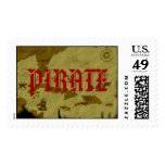 Pirate Map #1 Postage Stamp