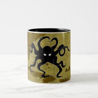 Pirate Map #1 Two-Tone Coffee Mug