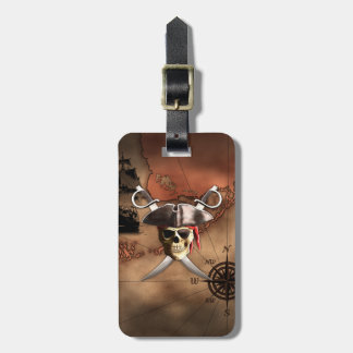 Pirate Map Bag Tag