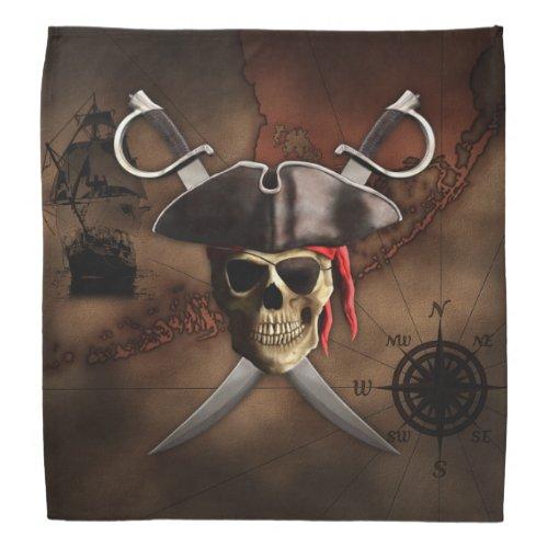 Pirate Map Bandana