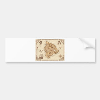 Pirate Map Bumper Sticker