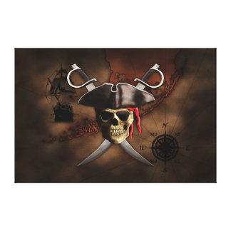 Pirate Map Canvas Print