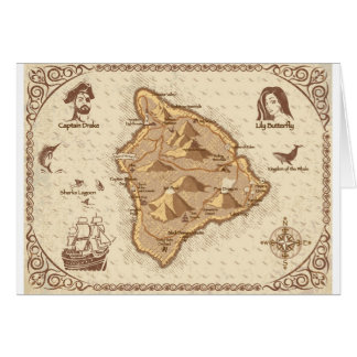 Pirate Map Card