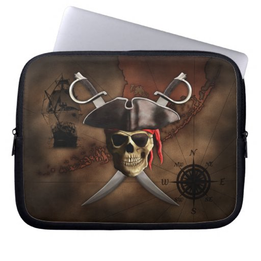 Pirate Map Computer Sleeves