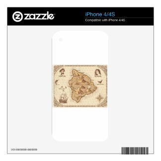 Pirate Map Decals For iPhone 4