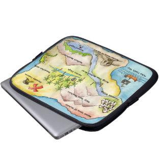 Pirate Map Electronics Bag Laptop Computer Sleeve
