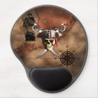 Pirate Map Gel Mouse Pad