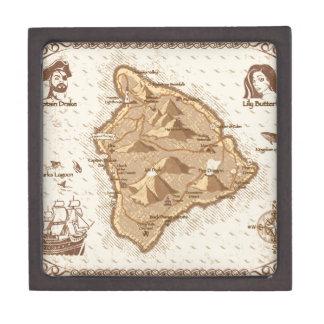 Pirate Map Jewelry Box