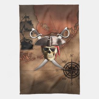 Pirate Map Kitchen Towel
