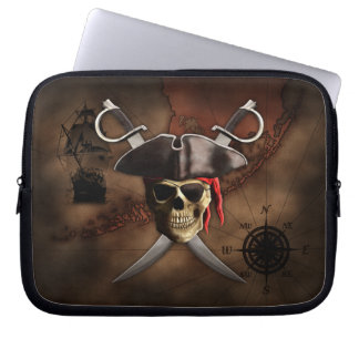 Pirate Map Laptop Computer Sleeves