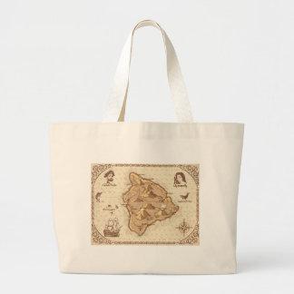 Pirate Map Large Tote Bag