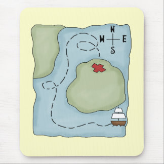 Pirate Map Mouse Pad
