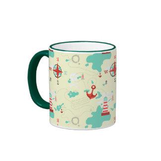 pirate map mugs