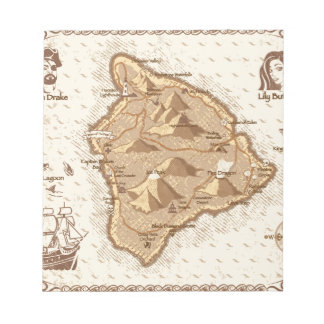 Pirate Map Notepad