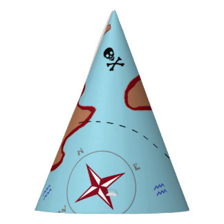 """""""Pirate Map"""" Party Hat"""