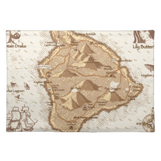 Pirate Map Placemat