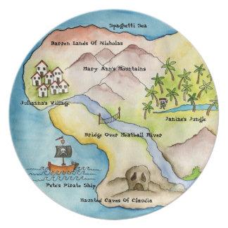Pirate Map Plate