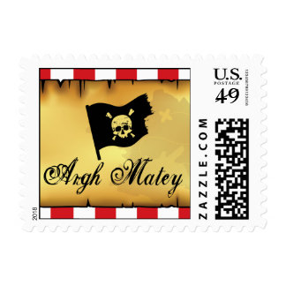 Pirate Map Postage