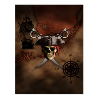 Pirate Map Postcard