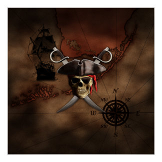 Pirate Map Poster