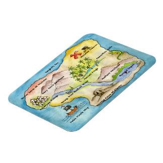 Pirate Map Premium Magnet