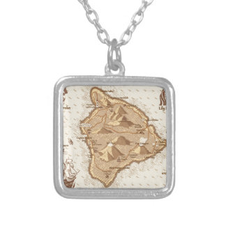 Pirate Map Silver Plated Necklace