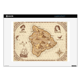 Pirate Map Skin For Laptop