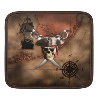 Pirate Map Sleeve For iPads