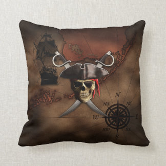 Pirate Map Throw Pillow