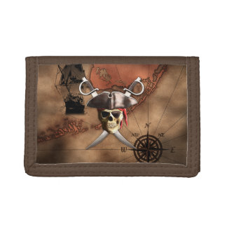 Pirate Map Trifold Wallet