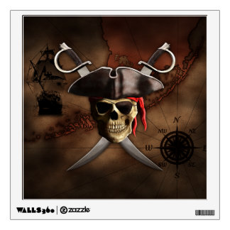 Pirate Map Wall Decal