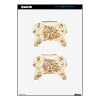 Pirate Map Xbox 360 Controller Decal