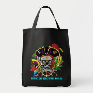 Pirate Mardi Gras Grocery Tote Bag