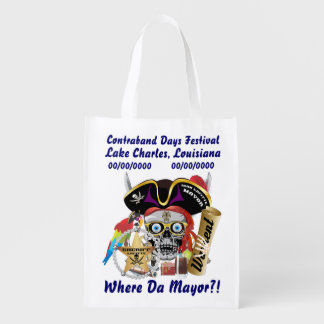 Pirate Mayor IMPORTANT Read About Design Reusable Grocery Bag