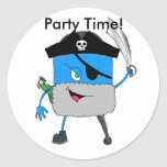 pirate meanie, Party Time! Birthday Stickers