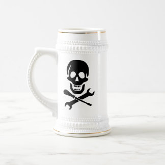 Pirate Mechanic Beer Stein 18 Oz Beer Stein