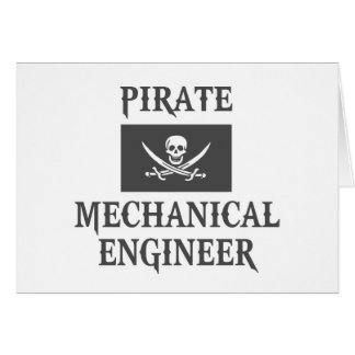 Pirate Mechanical Engineer Greeting Cards