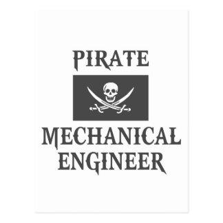Pirate Mechanical Engineer Post Card