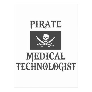 Pirate Medical Technologist Postcard