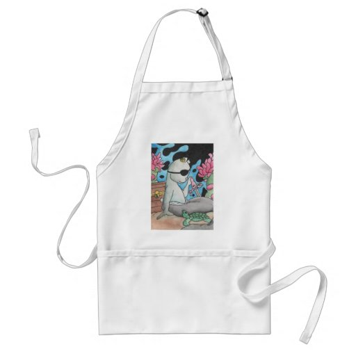 Pirate Mercat and turtle Adult Apron