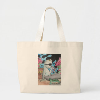 Pirate Mercat and turtle Tote Bags